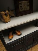 Black Painted Bookcase Cabinet with small cupboard, Gothic Shabby Chic (2 of 18)