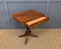 19th Century Flame Mahogany Lamp Table (3 of 10)