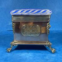 Arts & Crafts Glass and Brass Single Tea Caddy. (15 of 18)