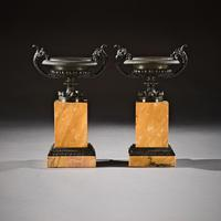 Pair Of Early 19th C Grand Tour Bronze And Sienna Marble Tazzas (2 of 7)