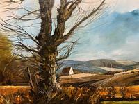 Large Magnificent Extensive Vintage Autumn Country Landscape Oil Painting (10 of 13)
