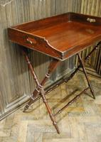 Mahogany Butlers Tray on Stand (2 of 6)