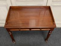 Victorian 2 Drawer Writing Table or Desk (4 of 16)