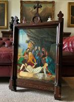 Superb 19th Century Old Master Biblical Jesus Religious Oil Painting - Gothic Oak Frame (2 of 14)
