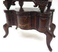 Unusual Rare 18th Century Austrian Verge Table Mantel Clock Pull Alarm (10 of 14)