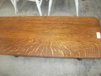 Long 2 Tier Solid Oak Coffee Table (2 of 3)