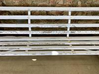 Large White Cast Iron Garden Bench (6 of 6)