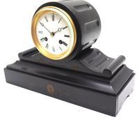 Drum Head Slate Mantel Clock – Gilt Marble 8-day Striking Mantle Clock (5 of 11)
