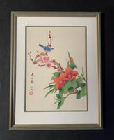 Very Attractive Set of Four Chinese Watercolours on Silk Pictures (4 of 5)