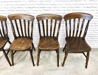 Matched Set of 6 Windsor Lathback Kitchen Chairs (6 of 7)