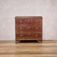 18th Century Gustavian Original Painted Commode - Red (15 of 15)
