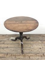 Antique 19th Century Welsh Oak Tilt Top Table (3 of 8)