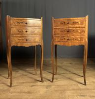 Pair of French Inlaid Tulipwood Bedside Tables (6 of 11)