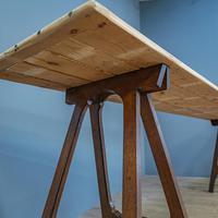 Pine & Oak Trestle Table (3 of 10)
