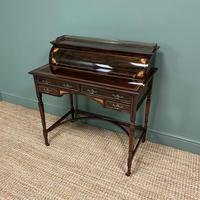 Spectacular Quality Victorian Rosewood Inlaid Antique Writing Desk (2 of 12)