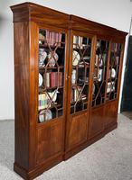 Four Door Breakfront Bookcase In Mahogany-19th Century (4 of 10)