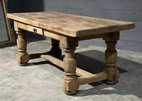 Rustic French Oak Farmhouse Kitchen Dining Table (6 of 16)