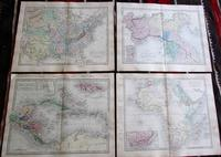 Large Collection of 23  Coloured  World Maps by Sidney Hall  1860 (2 of 4)