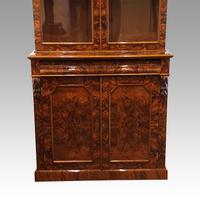 Victorian Burr Walnut Library Bookcase (4 of 11)