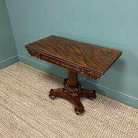 Fine Quality William IV Figured Mahogany Antique Card / Games Table (2 of 7)