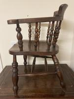 Victorian Ash & Elm Smokers Chair (8 of 10)