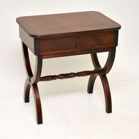 Antique Regency Style Mahogany Side Table (4 of 8)