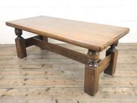 Vintage Solid Oak Low Occasional Table (4 of 7)