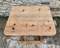 Antique Swedish Pine X-frame Trestle Table (4 of 21)