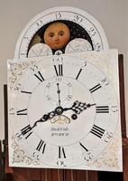 Early Late 18th / Early 19th Century Moon Dial Longcase Grandfather Clock (6 of 10)