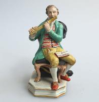 Enoch Wood - Rare Staffordshire Figure of a Flutist c.1810 (2 of 9)