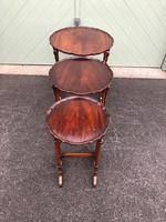 Antique Mahogany Nest 3 Tables (6 of 10)