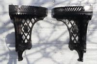 Aesthetic Movement, pierce-work corner shelves with galleries (a pair) c.1880 (20 of 35)