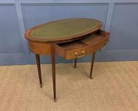 Edwardian Oval Inlaid Mahogany Writing Table (11 of 13)