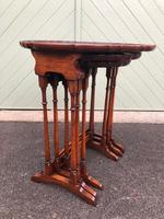 Antique Mahogany Nest 3 Tables (5 of 10)