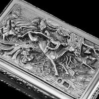 Rare Antique Georgian Solid Silver Mazeppa Snuff Box - Edward Smith 1836 (12 of 23)