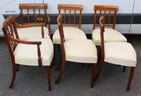 1930's Mahogany Set 6 Dining chairs with Inlay '4+2 Carvers' (2 of 3)