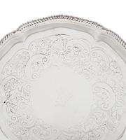 """Antique Georgian Sterling Silver 7"""" Tray / Salver 1773 (5 of 7)"""