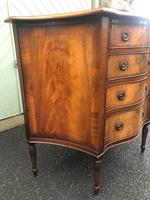 Antique Mahogany Serpentine Chest of Drawers (4 of 11)