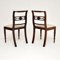 Pair of Antique Regency Mahogany Rope Back Side Chairs (5 of 8)