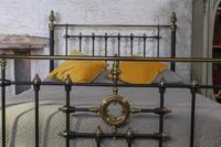 Handsome Victorian Naturally Aged Brass & Iron King Size Bed (7 of 8)