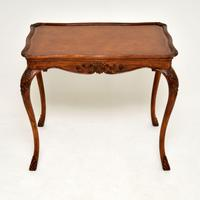 Antique French Carved Satinwood Occasional Table (2 of 12)
