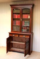 Walnut Cabinet Bookcase by James Shoolbred & Co (5 of 12)