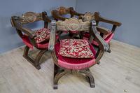 Four 20th Century Cross Frame Armchairs (7 of 8)