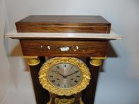 French Charles X Rosewood Portico Clock (2 of 9)