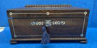 William IV Rosewood Sarcophagus Box with Inlay (5 of 13)