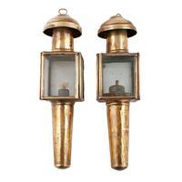 Pair of Miniature Hanging Oil Lamps (2 of 8)