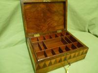 Large Tunbridge Ware Style Jewellery Box - Original Tray c.1870 (15 of 16)