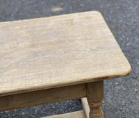 Large French Bleached Oak Farmhouse Table with Extensions (9 of 26)