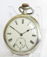 Antique Silver Omega Pocket Watch, 1907