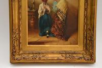 Antique Oil Painting in Gilt Wood Frame (4 of 9)